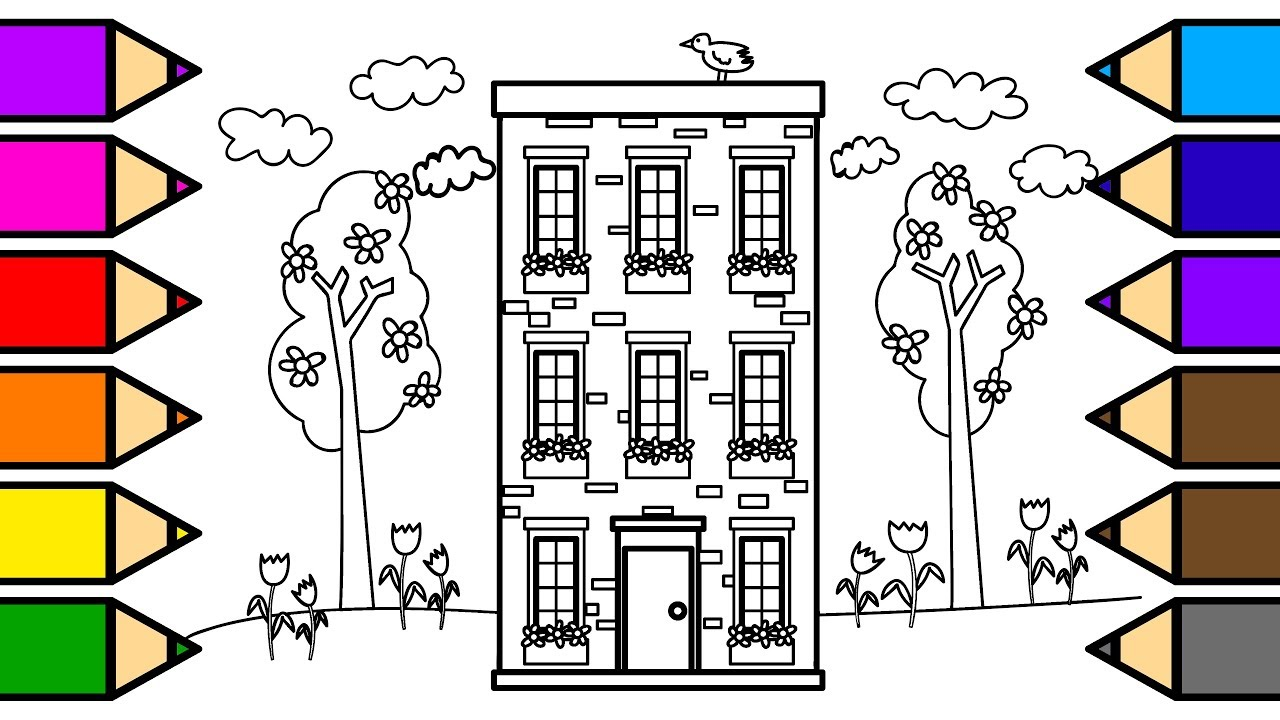 Apartment Building Drawing ~ Nice Apartement