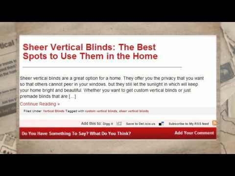 Vertical Blinds by Home Vertex