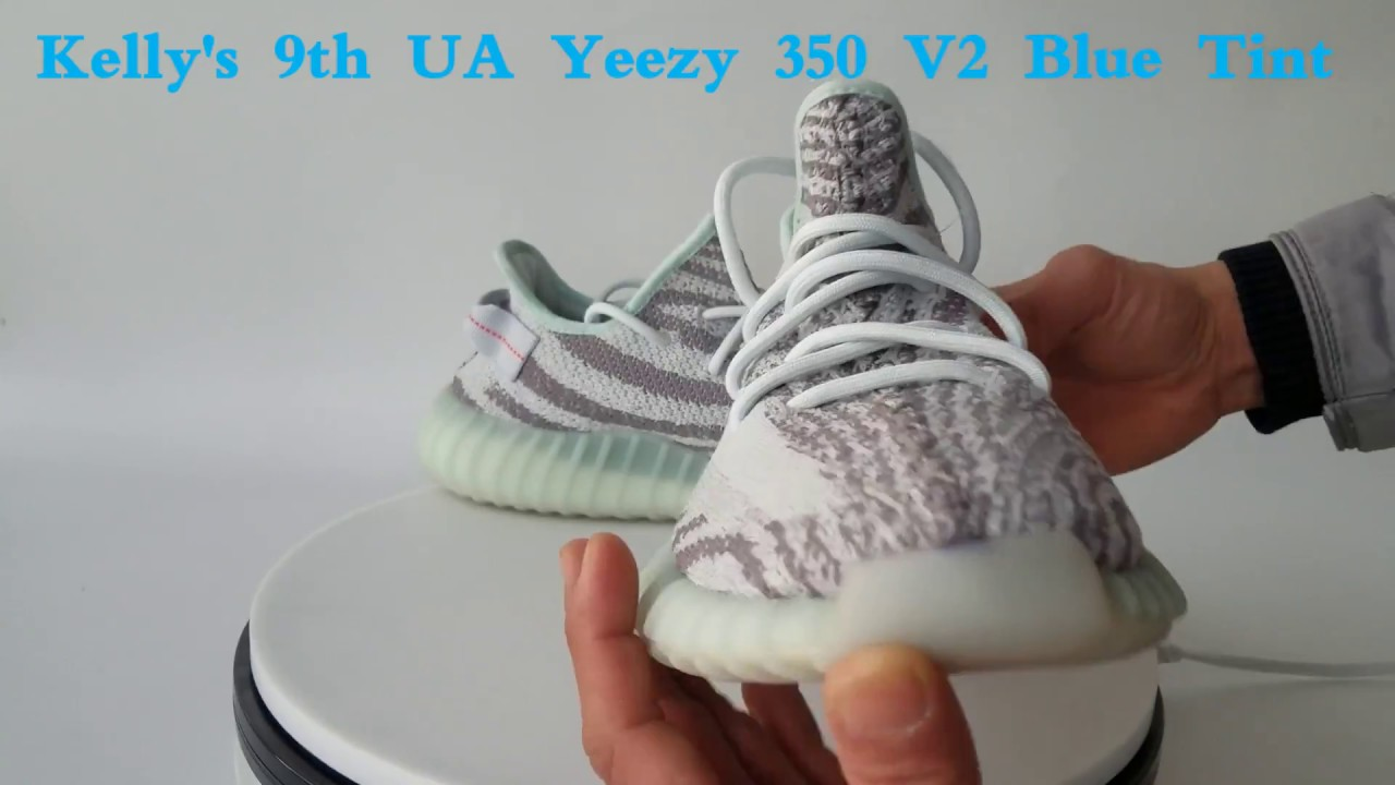 064499bc24d1d 9th UA Yeezy Boost 350 V2 Tint Blue (Kelly Sneaker)