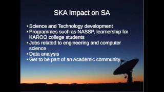 UWC Astronomy Outreach: Sibonelo Ngobese lecture