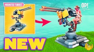 🔴 *NEW* MOUNTED TURRET GAMEPLAY (Fortnite Battle Royal - FAMILY FRIENDLY)