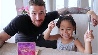 Baby Cali Does Daddy's Makeup - FamousTubeKIDS
