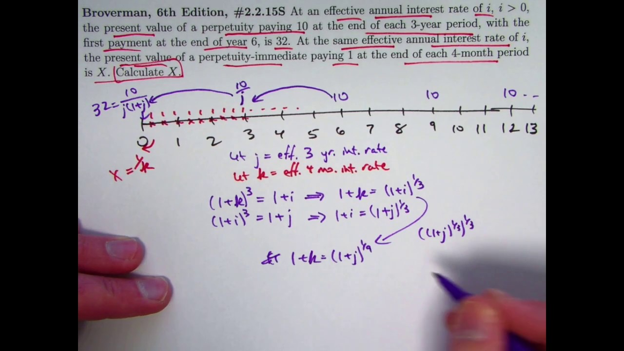 actuarial exam 2  fm prep  find pv of perpetuity