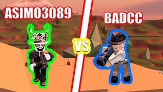 BADCC vs ASIMO3089 BATTLE!   Roblox Jailbreak