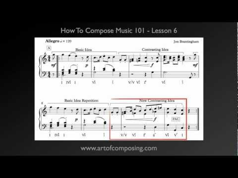 How to Compose Music - Lesson 7 - Small Ternary Form
