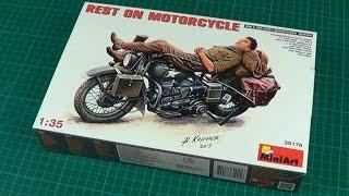 Обзор модели Отдых на мотоцикле от Миниарт 1/35 (Review model kit Rest on motorcycle Miniart 1/35)