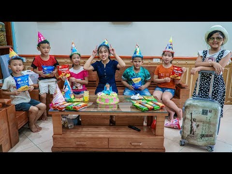 Kids Go To School | Chuns travel about sister making ice cream cake to treat friends