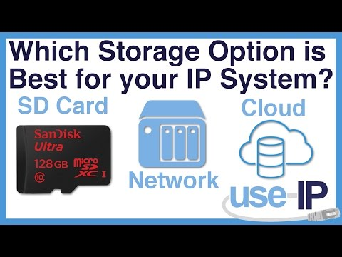 Which Storage Option is Best for your IP System? SD Card, Cloud or Network