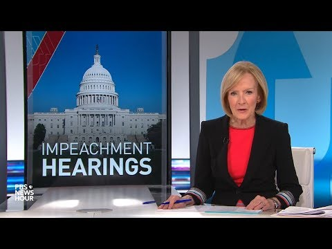 WATCH: PBS NewsHour's analysis of all 5 Intelligence Committee hearings in Trump impeachment inquiry