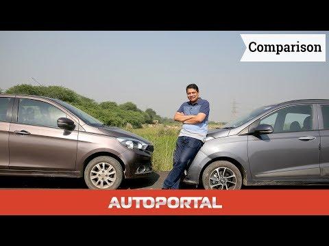 Tata Tiago Vs Hyundai Grand i10 Comparison Hindi Review - AutoPortal