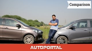 Tata Tiago Vs Hyundai Grand i10 Comparison Hindi Review - AutoPortal