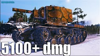 5К+ УРОНА на КВ-2 World of Tanks