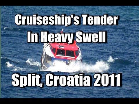 Cruiseship Tender battling against Heavy Swell at Split, Croatia in 2011