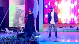 praveenmadesh and suma /romantic dance @ santhasa-2k18