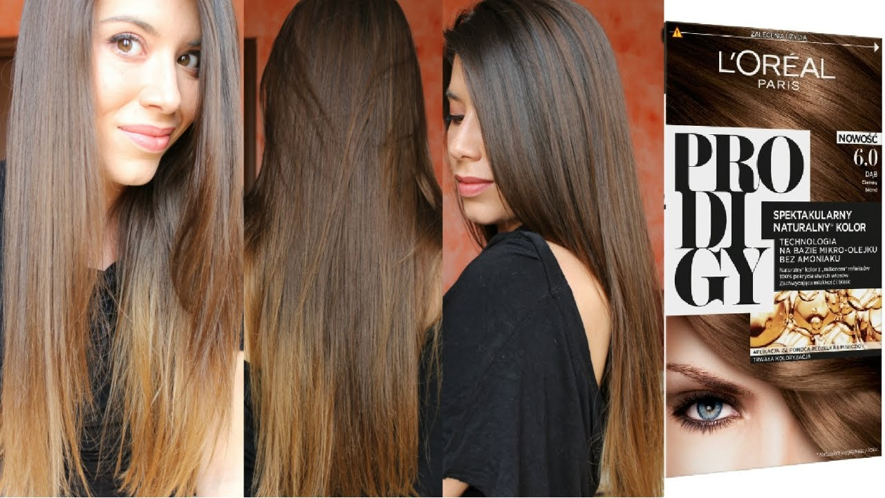 Come schiarire i capelli in modo naturale con una spazzola e L oréal  Prodigy  ) - YouTube 5c7cab1d0c30