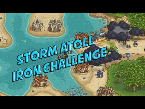 Storm Atoll Veteran Iron Challenge - Kingdom Rush Frontiers Rising Tides |