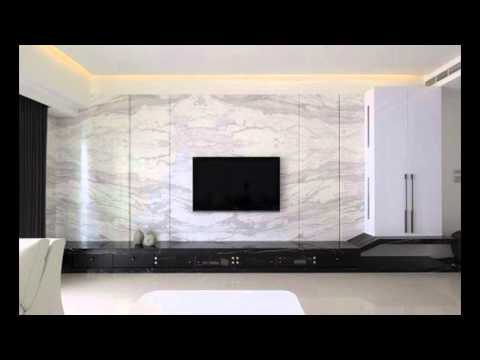 Tv Unit Design For Living Room With Wallpaper Living Room Ideas