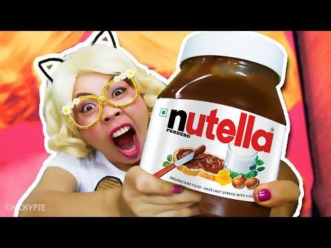กินจุ | กิน ช็อคโกแลต Nutella 1 กระปุกใหญ่
