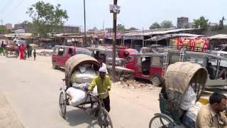 インド・ビハール州の貧困な街