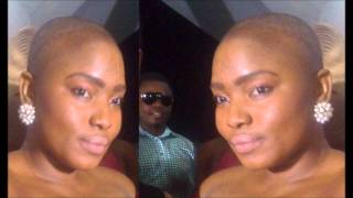 Halima Abubakar battles cancer with completely shaved hair.