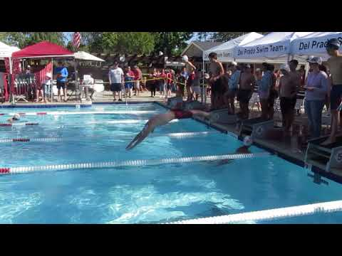 2018-6-16, Kenny Chen Swim 200 yards Relay (2018游泳賽 6/16 , 紀