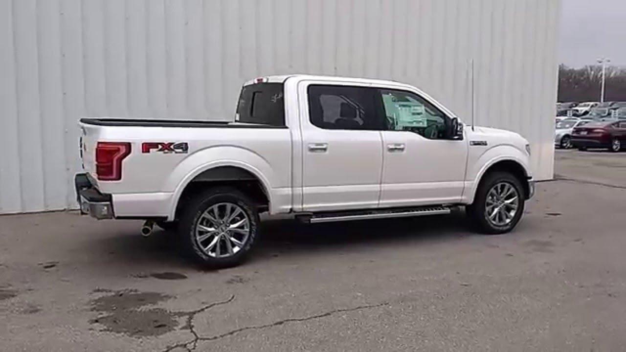 White Platinum 2016 F 150 Supercrew 4x4 Lariat 5 0l 502a Bed Tow Pkg Fx4 20 Wheels You