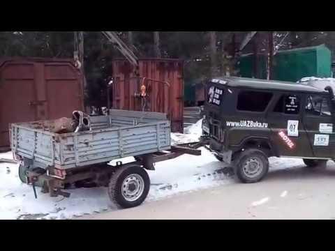 видео: Прицеп с кран балкой На УАЗ