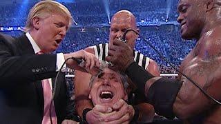 WWE Donald Trump and Bobby Lashley Vs Umaga and Vince Mcmahon Full Macth