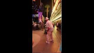 """Old man dancing in vegas to """"Bringing sexy back"""""""