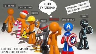 Stickman - 6 suits - Envato - 3DOcean