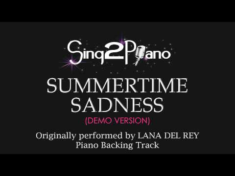 Summertime Sadness (Piano Karaoke Version) Lana Del Rey