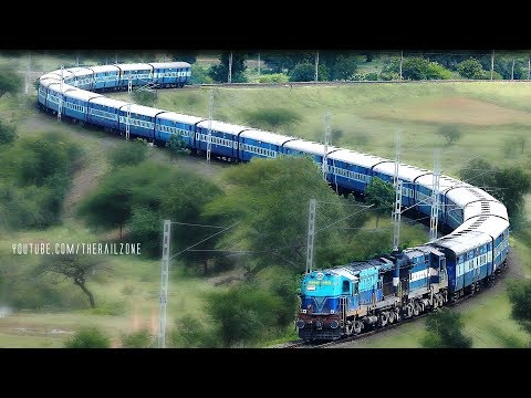 Thumbnail: The Most Beautiful SNAKE CURVE : Indian Railways S-Curve