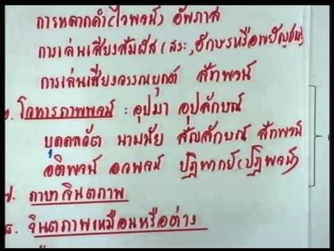 ปี 2557 วิชา ภาษาไทย ตอน วิเคราะห์ข้อสอบ (หลักภาษาไทย) ตอนที่ 1