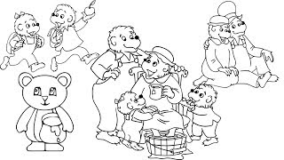 Easy Berenstain Bears Drawing Pages for Kids