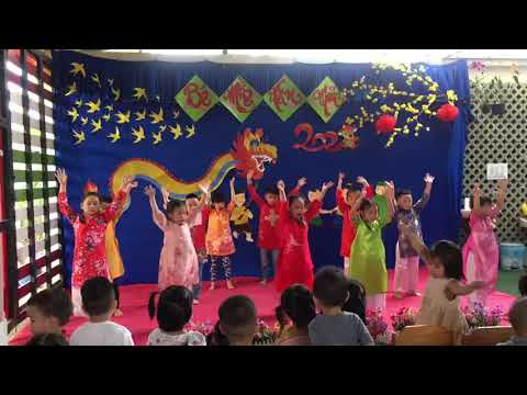 LÁ  BÉ ĐÓN TẾT SANG Xuân Tân Sửu 2021 Trường mầm non Hoa Hồng Đỏ