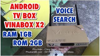 Bình Dương - Bán Tivi Box Android có 2 anten Vinabox X2 ram 1GB rom 8GB có tìm kiếm giọng nói.