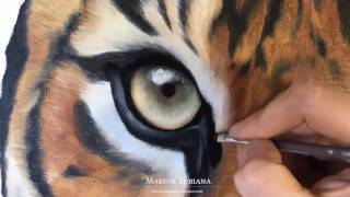 Tigre à la peinture à l'huile par Marion Tubiana