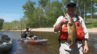 Kayak Fishing - Huge Smallmouth in Tiny Creeks