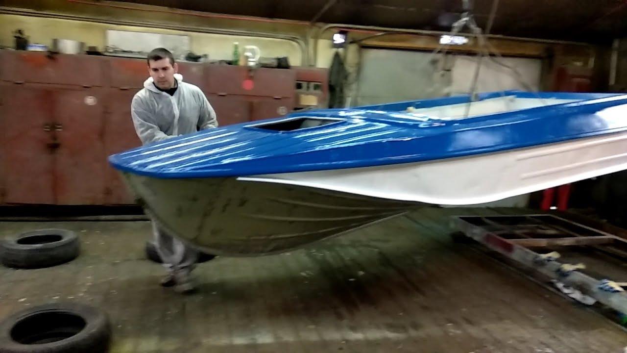 Покраска лодки «Казанка-2М»