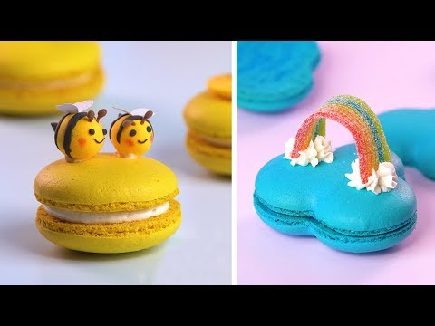 How To Make Colorful Macarons Decorating Ideas | So Yummy Perfect Macarons Recipes | Yummy Dessert