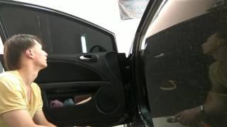 Seat Leon тонировка,  как снять, быстрый способ. БЕЗ РАЗБОРА