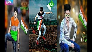 14 August VS 15 August Special Photo Editing Tutorial _ Independent Day Photo Editing in PicsArt