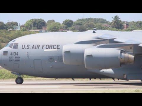 Tres Aviones Militares De Ee Uu Dejan Toneladas De Ayuda Para Venezuela En Cúcuta Youtube