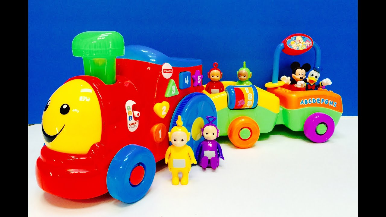 TELETUBBIES and DISNEY JUNIOR Counting and ABC Learning Train Toy!