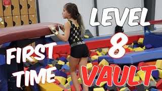 Coach Life: Sariah's First Level 8 Gymnastics VAULT| Rachel Marie