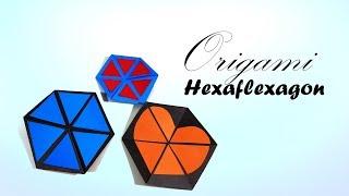Origami Hexaflexagon ♦ How to make an origami hexaflexagon/Colour changing Hexagon tutorial for kids