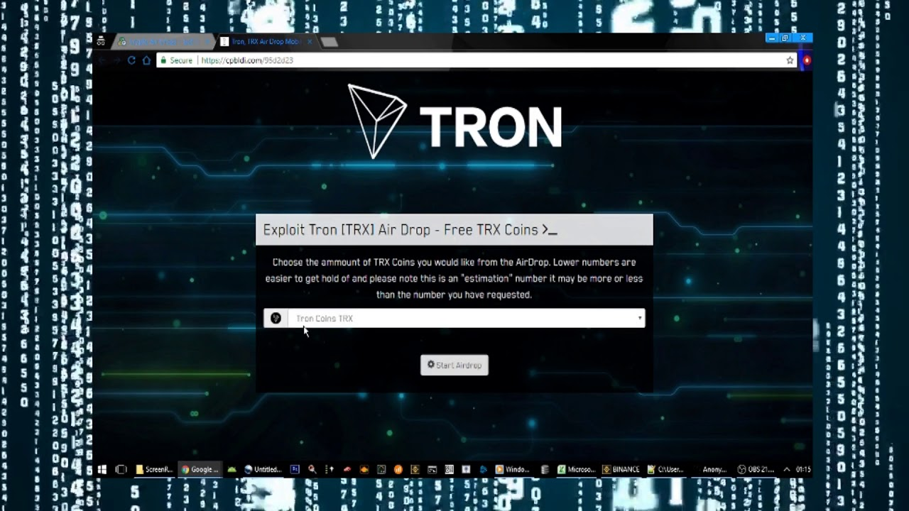 Free Tron Coins [TRX] Air Drop GEN Up to 1000 TRX Coins!