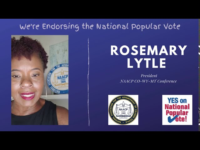 Why the NAACP Endorses YES on National Popular Vote