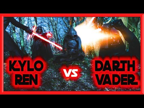 KYLO REN vs DARTH VADER | STAR WARS LIGHTSABER BATTLE