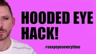 HOODED EYE HACK /TIP TO LIFT YOUR EYES! - BEGINNER FRIENDLY!